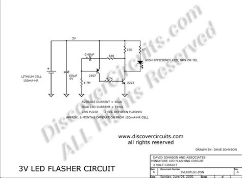 Flashing Led Power Indicator Draws Low Current