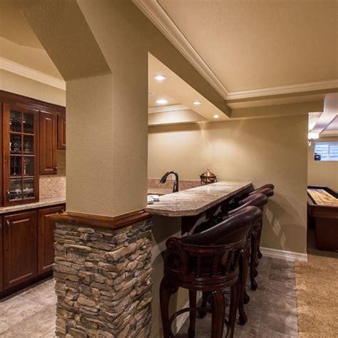 basement half walls and design columns ideas basement masters