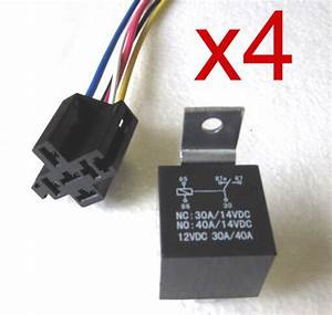 30  40 Amp 5 Pin Relay With 5 Wire Relay Socket Qty 4