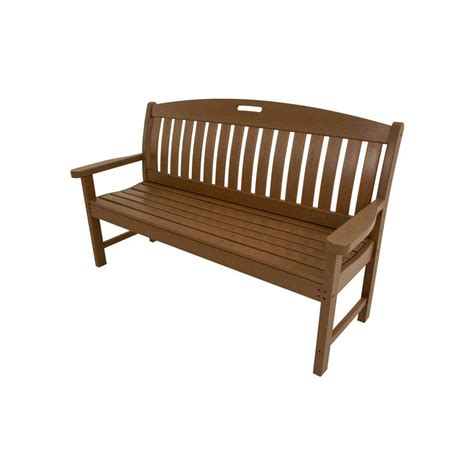 hanover avalon teak weather patio porch bench