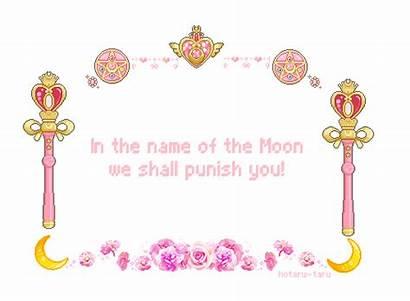 Pixel Moon Sailor Transparent Kawaii Text Pink