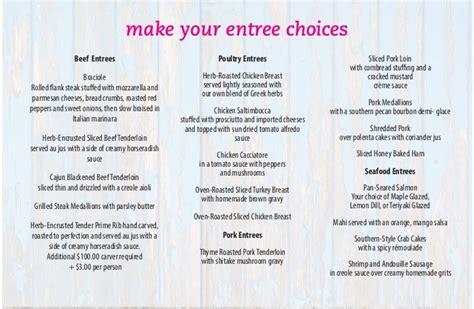ten   beach road bistro catering menus