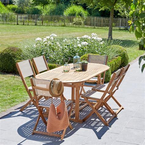 Salon de jardin en bois du0026#39;acacia extensible 6/8 places - Bois dessus bois dessous
