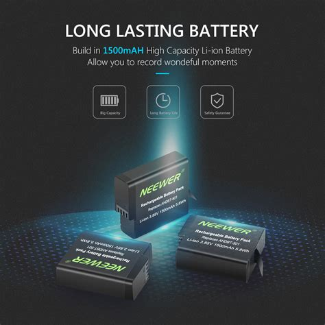 neewer battery charger set compatible gopro hero