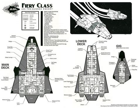 Traveller Ship Deck Plans by Fiery Class Deck Plans By Robcaswell Spaceship Spacecraft