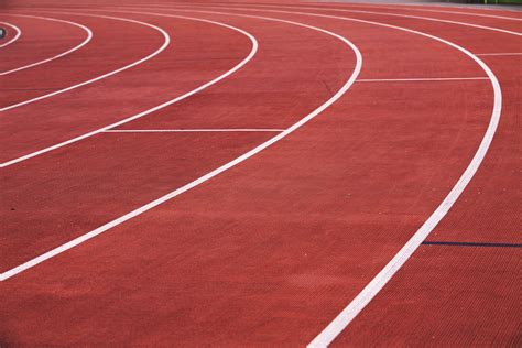 Athletics Running Track Royalty-Free Stock Photo and Image