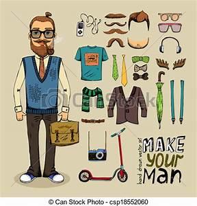 Style Hipster Homme : style ensemble retro homme style l ments ensemble ~ Melissatoandfro.com Idées de Décoration