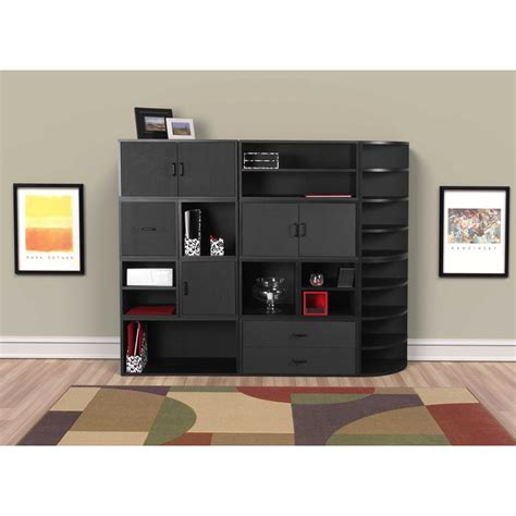 storage in the kitchen foremost 30 in black large open cube 327706 the home depot 5878