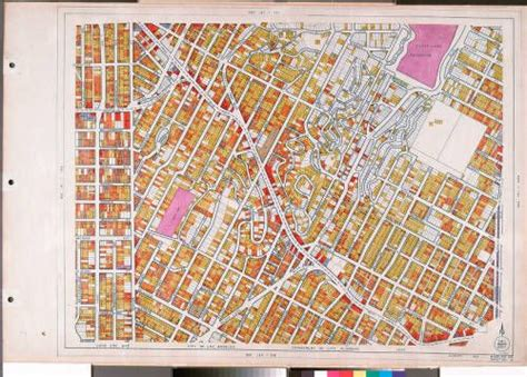 Wpa Land Use Survey Map For The City Of Los