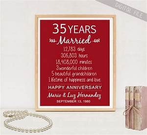 35th anniversary gift 35 years wedding anniversary With 35th wedding anniversary gift ideas