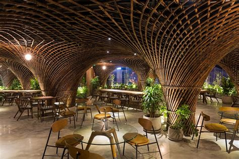 bamboo club cafe by vtn architects takes center stage in