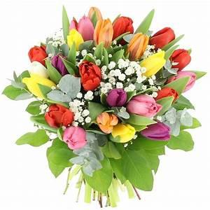 Bouquet De Fleurs : livraison tulipes et gypsophile bouquet de fleurs foliflora ~ Teatrodelosmanantiales.com Idées de Décoration