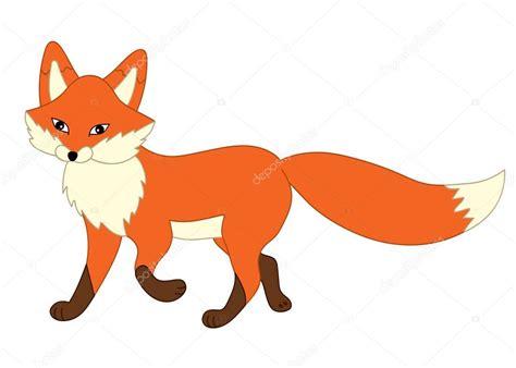 Vector Cute Cartoon Fox. Fox Clipart.