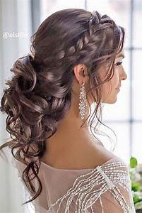 Braided Loose Curls Low Updo Wedding Hairstyle Wedding Hairstyles Pinterest Low updo, Updo