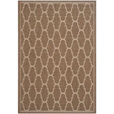 home depot outdoor rugs safavieh courtyard brown beige 8 ft x 11 ft 2 in indoor