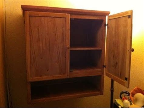 Home Made Cabinet Using Cheap Wood, Total Cost $20  Youtube