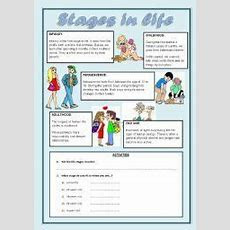 Human Life Cycle Worksheet  Stages In Life Worksheet For Revising The Stages Of Human Life