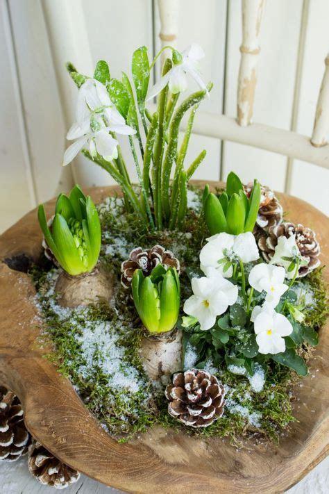fruehlingshafte gruesse im winter fruehling dekoration tisch