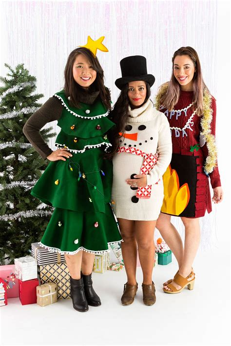 how to wear sweater to christmas party skip the sweater and diy an sweater dress this brit co