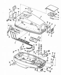 Evinrude Motor Cover Parts For 1972 50hp 50273c Outboard Motor