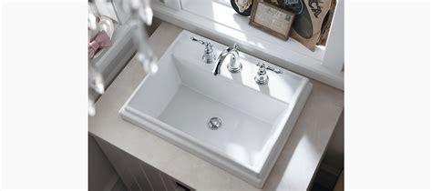 k 2991 8 tresham rectangular drop in sink with 8 inch