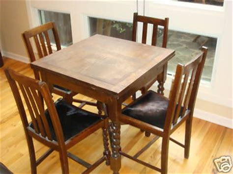 barley twist oak draw leaf pub table chairs