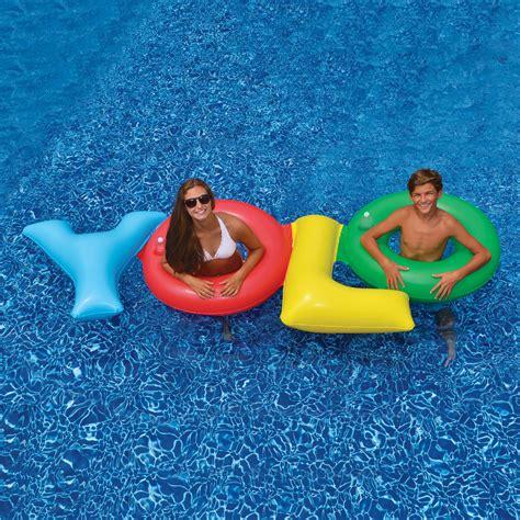 Swimline Yolo Pool Float  Swimming Pool Floats At Hayneedle