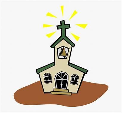 Church Clipart Cartoon Animated Chapel Clip Prayer