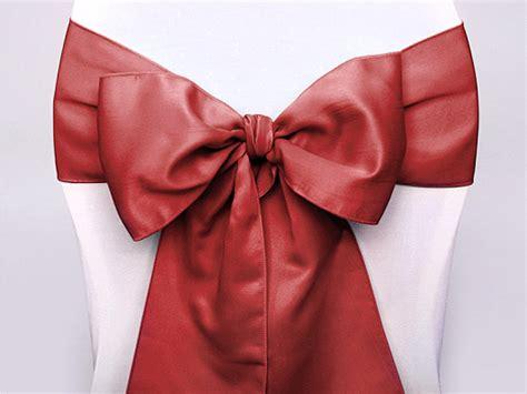 le noeud de chaise en satin luxe nos rubans tulles et noeuds de d 233 coration mariage