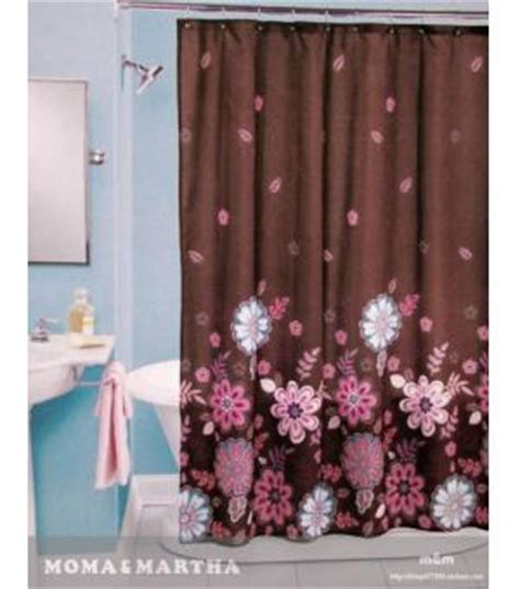brown with pink flowers shower curtain mm2023 wholesale