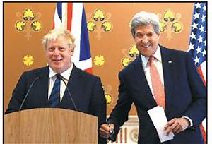 boris johnson left and us secretary of state john kerry ...