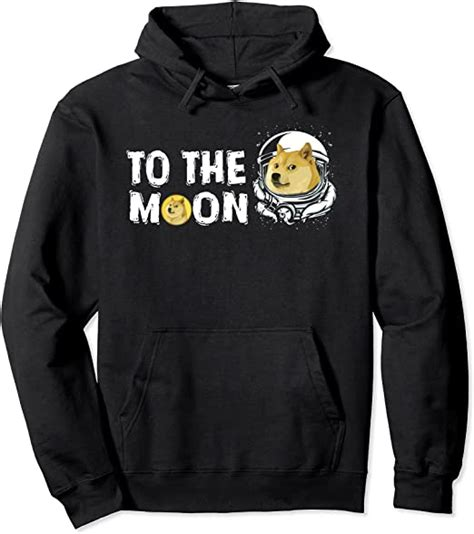 Dogecoin to the Moon Tee, Funny Doge Coin Crypto Currency ...