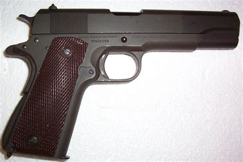 My Cherry Wwii Colt 1911a1 Pistol Which Is The Centerpiece