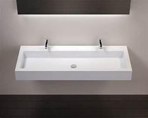 vasques largeur 100 plan vasque suspendue ou a encastrer With plan vasque salle de bain 90 cm