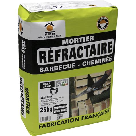 Platre Refractaire Cheminee by Mortier 224 Prise Rapide Prb 25 Kg Leroy Merlin