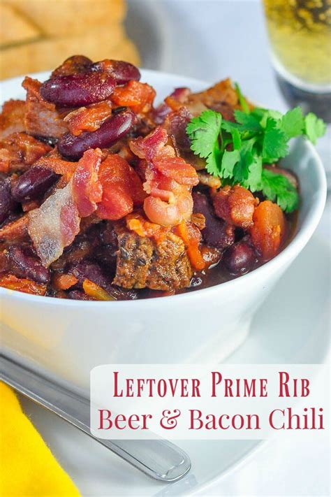 Pressure cooking can do a whole lot of good for your next bowl of chili. Prime Rib Beer Bacon Chili | Recipe | Prime rib recipe ...