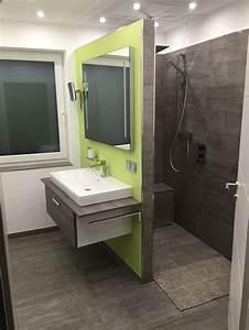 Offene Dusche Gemauert : badezimmer mit begehbarer dusche fliesen in betonoptik bathroom toilet inspiration pinterest ~ Markanthonyermac.com Haus und Dekorationen
