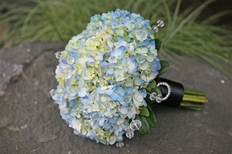 Wedding Bouquet Inspiration Blue Hydrangea Flower Bridalore