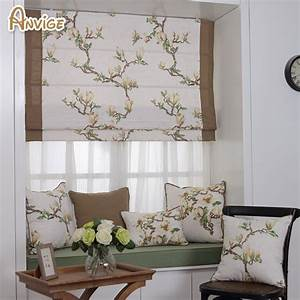 natural pastoral style cotton fabric roman blinds roller With are roman shades out of style
