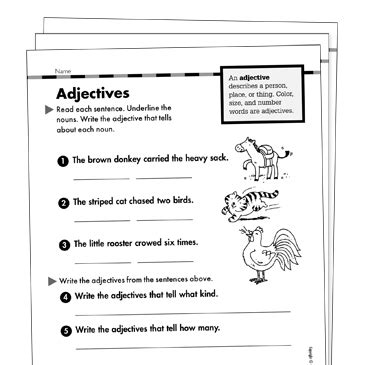 Adjectives Grade 1 Collection  Printable Leveled Learning Collections