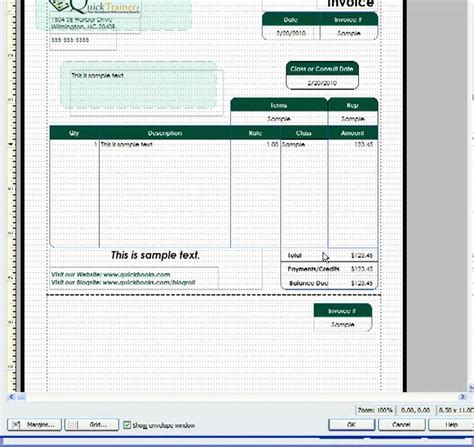 customizing  quickbooks invoice template  include