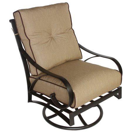 Patioland mandalay outdoor patio swivel rocker set of 4 dining chairs cast aluminum antique bronze. Newport Cast Aluminum Outdoor Patio Club Swivel Rocker ...