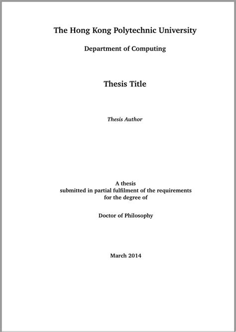 Template Tex Engineering Master Thesis by Polyu Thesis Template Xiaofeng Qu