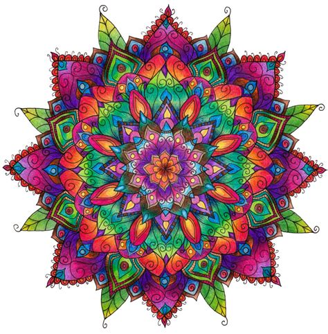 finished mandala colouring  welshpixie  deviantart