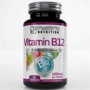 Vitamin B12 je 1000mcg + Folsäure Tabletten | Fat2Fit ...