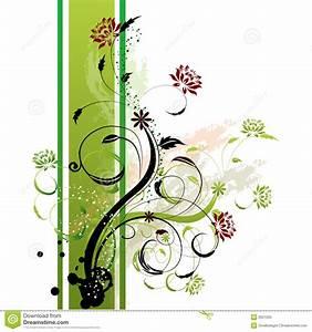 Side By Side Design : floral background green side stock illustration illustration 2621005 ~ Bigdaddyawards.com Haus und Dekorationen