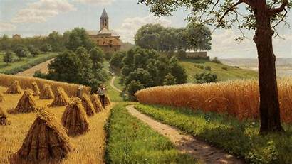 Painting Wallpapers Summer Landscape Backgrounds Computer Background