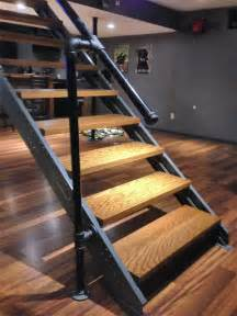 Decking Handrail Brackets by Basement Stair Stringers By Fast Stairs Com
