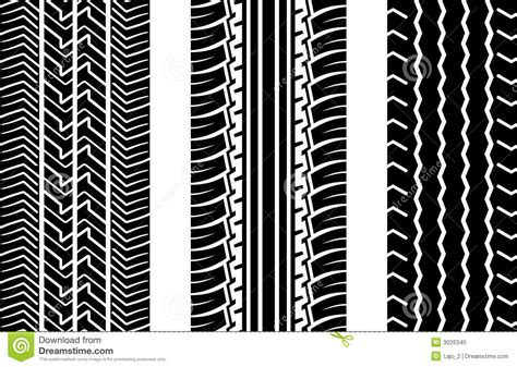 Tire Tracks Stock Vector. Image Of Tread, Pattern, Track
