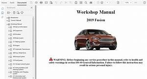 2019 Ford Fusion Repair Manual
